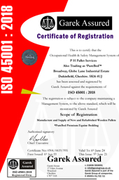 PHPallets ISO 45001 Certificate