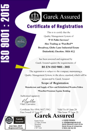 PHPALLETS ISO 9001 Certificate